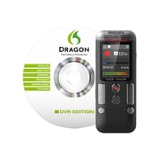 Philips Voice Tracer DVT2700 Digital Recorder with 2 Mic Stereo Recording/Speech Recognition Software, Anthracite/chrome