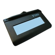 "Topaz® SigLite® LCD 1X5 Virtual Serial via USB Backlit Signature Pad With Stylus, Black, 4.4"" x 1.3"""