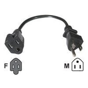 C2G® 15' NEMA 5-15P to NEMA 5-15R Outlet Saver Power Extension Cord, Black
