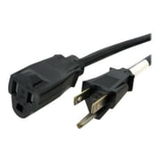 dnpStarTech 6' NEMA 5-15R To NEMA 5-15P Power Extension Cord, Black
