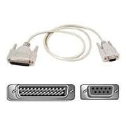 Belkin® 25' Pro Series DB-25 Male To DB-9 Female Serial Modem Cable, Gray