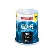 Maxell 48x CD Recordable Media, 700MB, 100/Pack (648200)