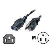 C2G® 15' NEMA 5-15P to IEC320C13 Universal Power Cord, Black