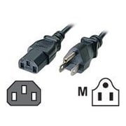 C2G® 10' NEMA 5-15P to IEC320C13 Universal Power Cord, Black