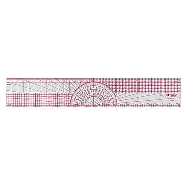 """C-THRU Bevelled Protractor Ruler, 12"""", 12/Pack"""