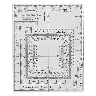 C-THRU – Lecteur de quadrillage Universal Transverse Mercator (UTM), 12/pqt