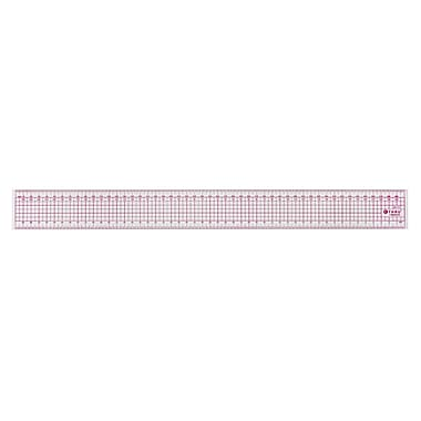 C-THRU 50cm Transparent Zero Centering Metric Grid Ruler, 12/Pack