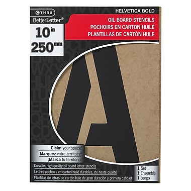 C-THRU Oil Board Stencil Kit, 10""