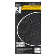 "C-THRU 2"" Helvetica Repositionable Vinyl Letters, Black, 4/Pack"