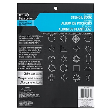 C-THRU Stencil Book with Multiple Shapes, 8