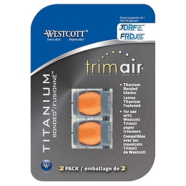 Westcott Trimair Replacement Blades for 15192 Trimmer, Cut Blades Only, 2/Pack