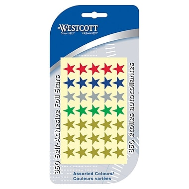 Westcott Assorted Coloured Stars, 350/Pack