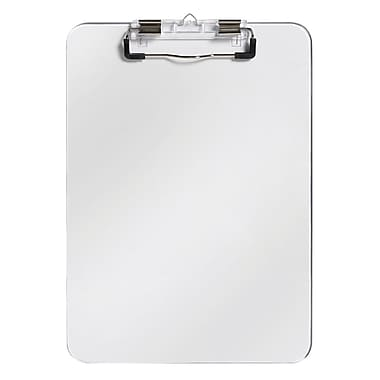 Westcott Letter Size Plastic Clipboards with Pen Holder, 9