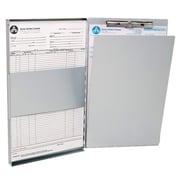 Westcott - Porte-feuilles en aluminium à charnière latérale, format lettre