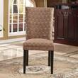 Bellasario Collection Elegant Damask Parsons Chair (Set of 2)