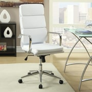 Wildon Home   High-Back Task Chair with Arms; White