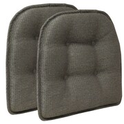 Klear Vu Omega Gripper Tufted Chair Cushion (Set of 2); Seal