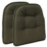 Klear Vu Omega Gripper Tufted Chair Cushion (Set of 2); Evergreen