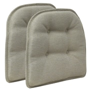Klear Vu Omega Gripper Tufted Chair Cushion (Set of 2); Platinum