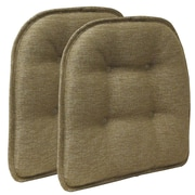 Klear Vu Omega Gripper Tufted Chair Cushion (Set of 2); Gold