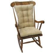 Klear Vu Twillo Rocking Chair Cushion; Stone