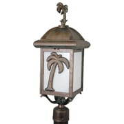 Melissa Americana Palm Tree Series 1 Light 25'' Post Lantern Head; Rusty Nail