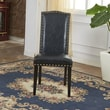 Bellasario Collection Elegant Parsons Chair (Set of 2); Black