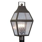 Livex Lighting Augusta 3 Light 11.25'' Post Lantern; Bronze