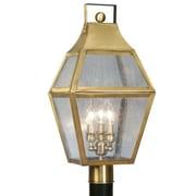 Livex Lighting Augusta 3 Light 11.25'' Post Lantern; Flemish Brass