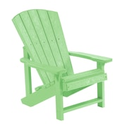 CR Plastic Products Generations Kids Adirondack Chair; Lime Green