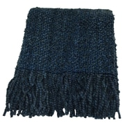 Bedford Cottage-Kennebunk Home Campbell Woven Throw Blanket; Bristol Blue