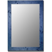 Hitchcock Butterfield Company Vintage Blue Framed Wall Mirror; 16'' H x 34'' W