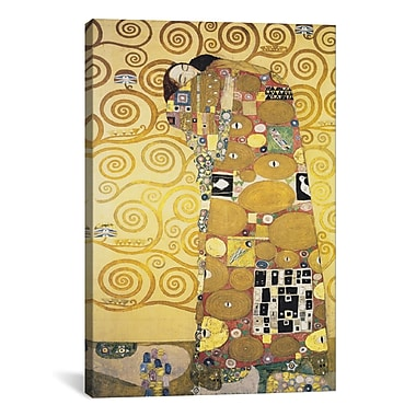 iCanvas 'Erfullung, 1905' by Gustav Klimt Painting Print on Canvas; 60'' H x 40'' W x 1.5'' D