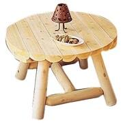 Rustic Cedar Round Coffee Table; 27''