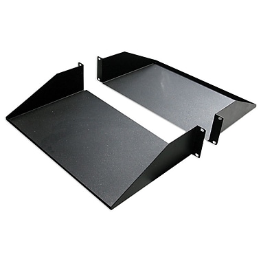 Quest Manufacturing 25''D 2-Piece Double-Sided Non-Vented Divided Shelf - 2 RU