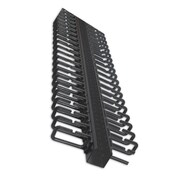 Quest Manufacturing Black Vertical Cable Manager with 1.75''D; 72''