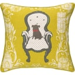 Sarah Watts Victorian Dog Reversible Printed and Embroidered Throw Pillow