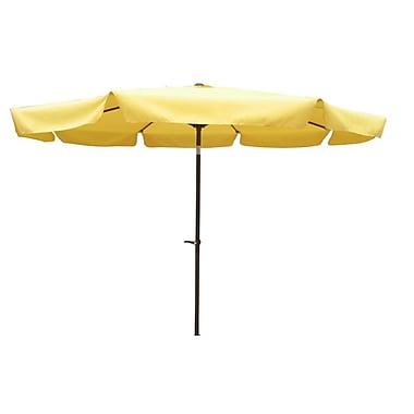 International Caravan 10' St. Kitts Drape Umbrella; Yellow