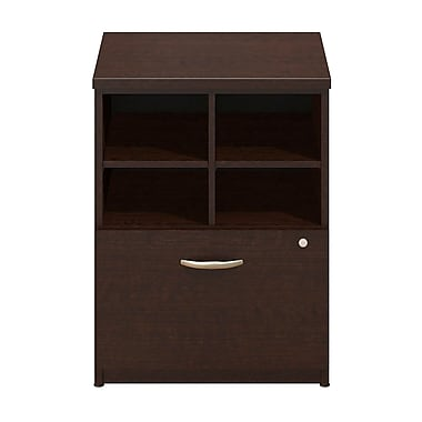 Bush® Business Westfield Elite 24W Pedestal Piler/Filer, Mocha Cherry, Pre Assembled