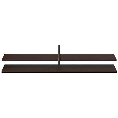 Bush® Business Westfield Elite 60W x 12.5D Standing Table Desk Shelf Kit, Mocha Cherry