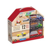 Guidecraft Wooden Truck Collection Set, 12 Piece