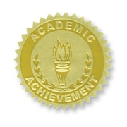 Flipside Gold Foil Embossed Seal, Academic Achievement, 54/Pack