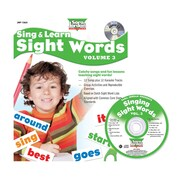 Sing & Learn Sight Words, Vol. 3, Hardcover Book with Audio CD