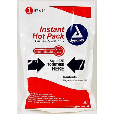 Dynarex Disposable Instant Hot Pack, 5