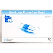Door to Door Pleated Face Mask With Ear Loop, Blue