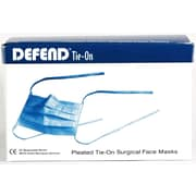 "Defend® Anti-Fog ""Diffuser"" Pleated Tie-On Face Mask With Ear Loop, Blue"