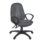Regency 2503GY Fabric Momentum Swivel Office Chair with Arm, Gray