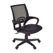 Regency Curv Faux Leather Computer and Desk Office Chair, Fixed Arms, Black (2900BK)