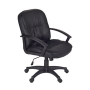 Regency Stratus Faux Leather Computer and Desk Office Chair, Fixed Arms, Black (3320BK)