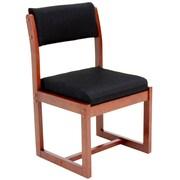 Regency Sled Base Side Wood & Fabric Chair, Black (B61705CHBK)